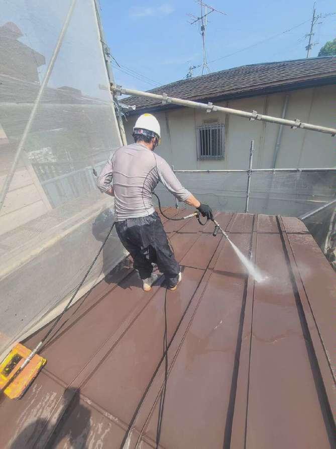 屋根塗装(折半屋根)